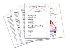 Wedding Planning Checklist digital wedding checklist by PrintToWin