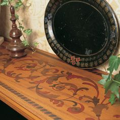 Faux Marquetry anyone? Yes, yes, yes!