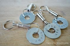 DIY Fathers Day Gift Idea - Stamped Washer Keychain