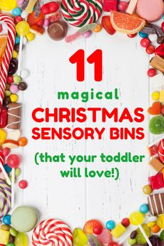 In search of fun Christmas activities to do with your toddler? Try these festive Christmas sensory bins for toddlers! These sensory play bins make the perfect indoor activity to get your toddler in the Christmas spirit!