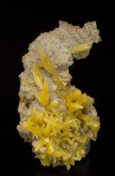Mimetite with Dolomite Mineral Specimen - Large Photo - Fabre Minerals