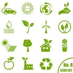Vektor: Umwelt - Icon Set
