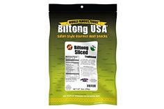 Biltong Jerky Grassfed Traditional Sliced Spicy Mild Flavor 8oz High Protein Gluten Free Low Carb   #HealthySnacks