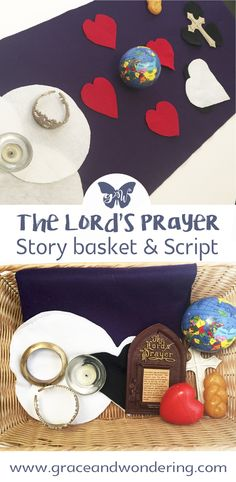 Teach the Lord's Prayer to children using simple props. Grab a free storytelling script as a teaching resource for your Lord's prayer lesson. Toddler Sunday School, Kids Sunday School Lessons, Sunday School Crafts, Preschool Bible Lessons, Bible Crafts For Kids, Preschool Crafts, Lords Prayer Crafts, Prayer Ministry, Church Ministry