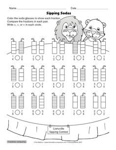 VALENTINES FRACTION Coloring Page Coloring, Big kids and