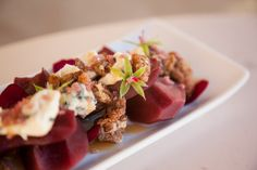 Zinfandel-poached pears with blue cheese #foodie #continentalcatering