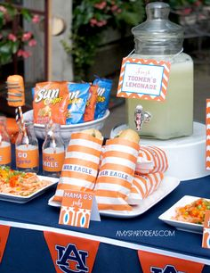 Iron Bowl party ideas... I'd add some RED Sun Chip bags to the mix ;)