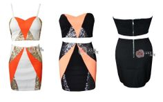Free shoping NEW ARRIVALS Fashion orange stitching sequins cot out dress party dress  TB5140 $22,32