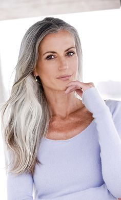 Some color suggestions are purple, warm orange, fuscia, pink or jewel tones like cobalt blue, emerald green and ruby red. For gray-haired women, most experts agree that the one color to avoid is beige. If you want to go pale, try bright white instead.