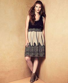 American Rag Plus Size Dress, Sleeveless Sequin Lace