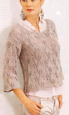 Russischer Online-Tagebuchservice - ropa punto y crochet - Lace Knitting, Knitting Stitches, Knit Crochet, Knitting Machine Patterns, Knit Patterns, Clothes For Pregnant Women, Pulls, Knitting Projects, Knitwear