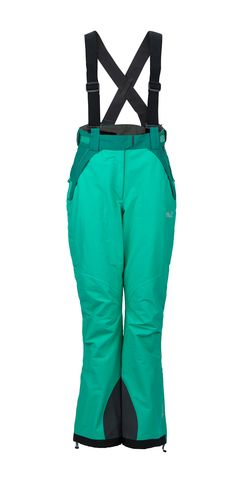 Green #ski pants from #JackWolfskin - for the colourful look.