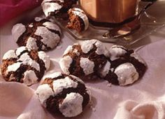 Chocolate Crinkles...my husband's favorite Christmas cookie!  Fudgy and yummy!  Make them on Christmas Eve morning!  They dry out within a few days.