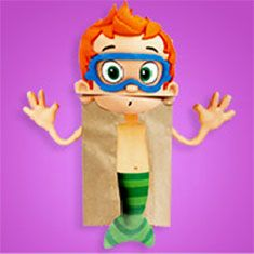 Fun way to recycle all those brown paper bags! #BubbleGuppies #NickJr