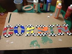 DIY race car theme for the boys' room! DIY!!!