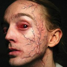 Trauma - Possessed - Temporary Tattoos - Tinsley Transfers Inc. Ghost Makeup, Demon Makeup, Horror Makeup, Zombie Makeup, Sfx Makeup, Halloween Face Makeup, Scarecrow Makeup, Tinsley Transfers, Realistic Temporary Tattoos