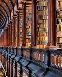 Trinity College Library, located at Trinity College, Dublin, is the largest library in Ireland.