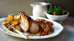 BBC Two - Food & Drink, Tom Kerridge - British Food, Roast pork with roast potatoes and gravy