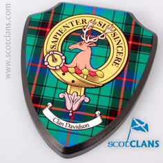 Small Davidson Clan Crest Plaque. Free worldwide shipping available