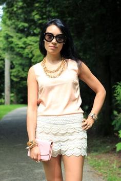oasap lace shorts