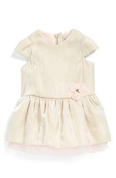 Armani Junior Cap Sleeve Dress (Baby Girls)