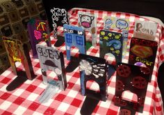 The Teens at Mooresville Public Library decorated these book ends! Book end art!