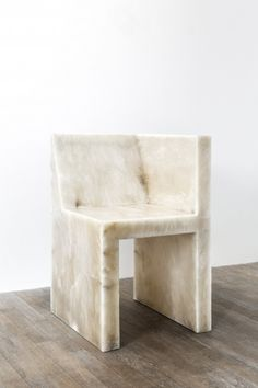 Carpenters Workshop Gallery | WorksRICK OWENS HALF BOX (ALABASTER) 2011 Alabaster Limited Edition of 8 + 4 AP H 77 / L 50 / W 50 (cm) H 30.3 / L 19.7 / W 19.7 (inches)