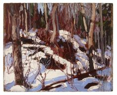 Tom Thomson Catalogue Raisonné | Winter Thaw in the Woods, Fall 1916 (1916.172) | Catalogue entry
