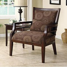 Philly Framed Chair Chocolate | Overstock.com Shopping - Great Deals on Living Room Chairs