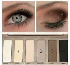 EYE MAKEUP GUIDE: Beautiful Eye Makeup – I have this eyeshadow palette (naked basics urban decay). EYE MAKEUP GUIDE: Beautiful Eye Makeup – I have this eyeshadow palette (naked basics urban decay). Beauty Make Up, Hair Beauty, Naked Palette, Eyeshadow Palette, Eyeshadows, Eyeshadow Guide, Neutral Palette, Naked2 Palette Looks, How To Eyeshadow