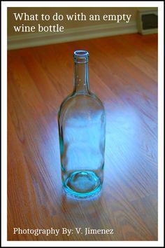 Wine Bottle Crafts with Lights | WINE BOTTLE 1crochet