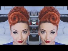 PERFECT PINUP HAIR TUTORIAL - YouTube