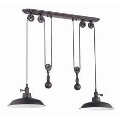 Suspendu bronze idéal pour ilot et salle à manger.