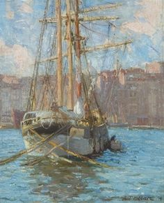 """Marseilles Harbor,"" Aldro Thompson Hibbard, oil on canvas board, 11 x 9 1/2"", private collection."