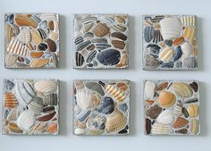 Sea shell mosaic tiles by CSideStudios on Etsy https://www.etsy.com/listing/502819153/sea-shell-mosaic-tiles