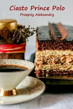 Przepisy Aleksandry: CIASTO PRINCE POLO Polish Cake Recipe, Polish Recipes, Sweet Recipes, Cake Recipes, Dessert Recipes, Bakery Cakes, Food Cakes, Cake Bars, Dessert Bars