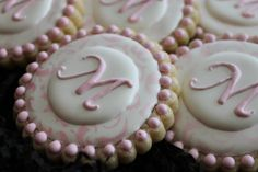 Monogram Cookies Wedding Cookies Birthday von 4theloveofcookies