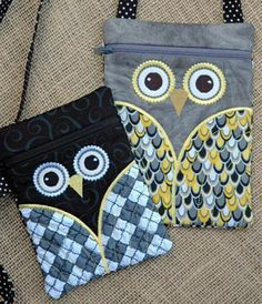 Owl Hipster Purse Set