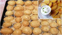 Zutaten  Kartoffeln zerlassene Butter geriebener Parmesan Salz Knoblauchgranulat oder frischer Knoblauch Würzmischung für Ofenkartoffeln   Zubereitung  Kartoffeln waschen und halbieren. Zerlassene Butter auf ein Backblech geben. Parmesan darüber reiben, mit Knoblauch, Salz und Pfeffer/Gewürzen bestreuen. Die Kartoffelhälften mit dem Schnitt nach Unten aufs Blech legen und in den vorgeheizten Ofen schieben. Sie... Party Finger Foods, Pampered Chef, Pistachio, Parmesan, Side Dishes, Grilling, Sandwiches, Brunch, Food And Drink