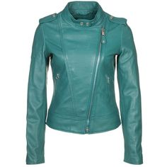 221af1b94f Schott NYC Leather jacket ( 485) ❤ liked on Polyvore Coats For Women