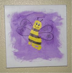Footprint bumblebee (follow the link for some other fun ideas and a fun hand/footprint art grouping).