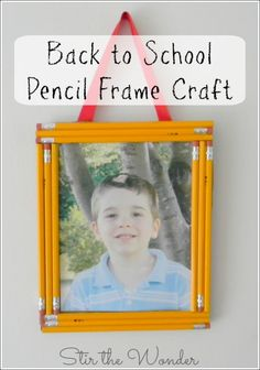 Back to School Pencil Frame Craft- an adorable place for those new school photos!