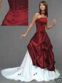 Robe de mariee rouge blanc