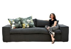 Meet our furniture designer at Incanda, Ockerlene Endemann on our popular Swellendam couch. The deep, wide-armed style of this couch is ideal for a spacious and homely interior. The removable and washable covers make maintenance a breeze. Chesterfield Couch, Somerset West, Leather Furniture, Lead Time, Couches, Furniture Making, Breeze, Lounge, Meet