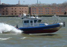 NYPD Patrol boat near Governor's Island.