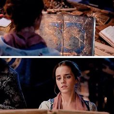 Belle Looking At The Ancient Book With Images Beauty And The