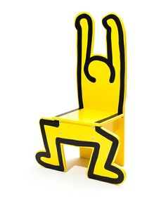 Keith Haring Wooden Chair