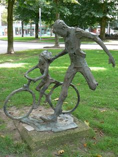 """Fietsles"" (1971) - Kees Verkade. Ubbo Emmiussingel. Groningen. The Netherlands."