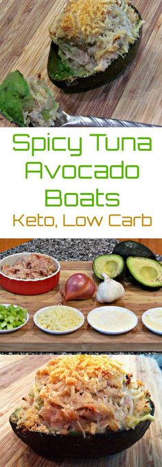 Spicy Tuna Avocado Boats | Peace Love and Low Carb