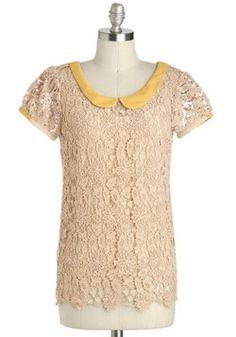 @Irene Rivera - tu te leegaste a llevar esta blusa? :) let me know para hacerte outfits con ella :) Sugar and Honey Top. #modcloth
